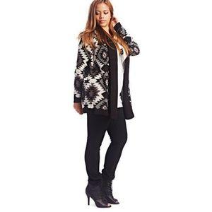 Plus Size Geo Knit Cardigan